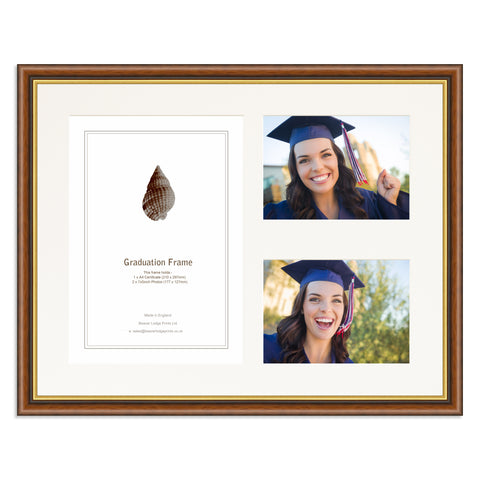 Mahogany and Gold Graduation Frame