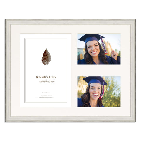 Distressed Silver Graduation Frame