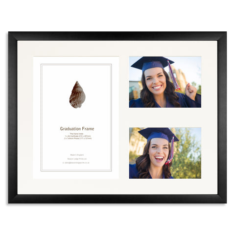 Matt Black Graduation Frame