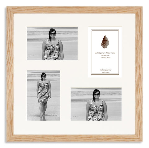 Image of a Solid Oak Photo Frame to hold four 6x4inch photos