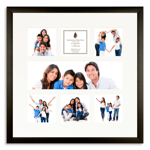 A Matt Black photo frame with a 7 aperture mount ideal for photographic studios