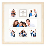 A White Shabby Chic Multi Aperture photo frame with a 7 aperture mount ideal for photographic studios