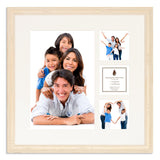 A White Shabby Chic photo frame with a 4 aperture mount ideal for photographic studios