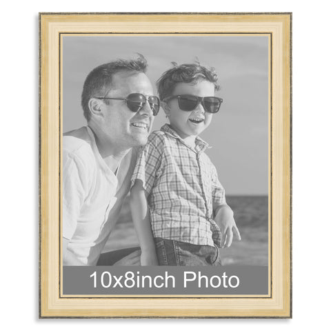 10 x 8inch Gold Wooden Photo Frame for a 10x8/8x10in image