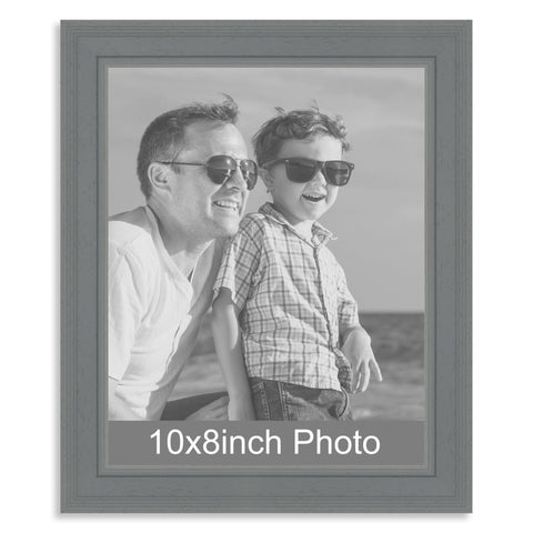 10 x 8inch Grey Wooden Photo Frame for a 10x8/8x10in image