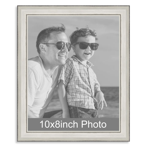 10 x 8inch Silver Wooden Photo Frame for a 10x8/8x10in image