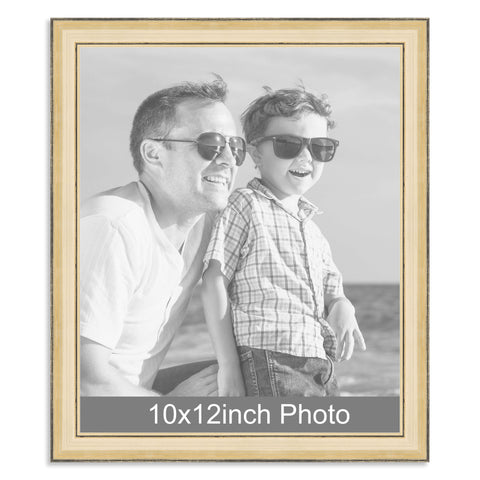 10 x 12inch Gold Wooden Photo Frame for a 10x12/12x10in photo