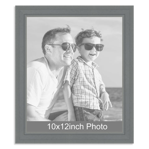 10 x 12inch Grey Wooden Photo Frame for a 10x12/12x10in photo