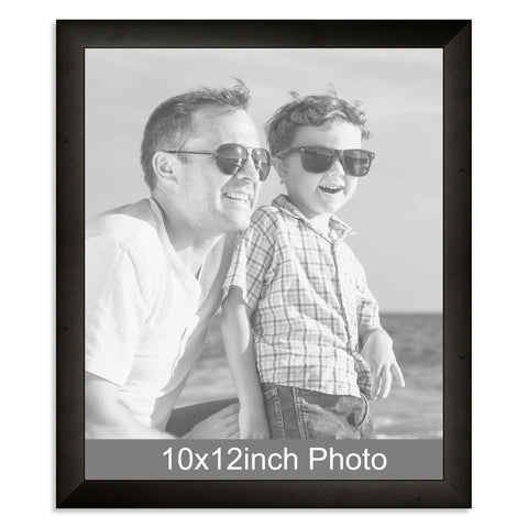10 x 12inch Black Wooden Photo Frame for a 10x12/12x10in photo