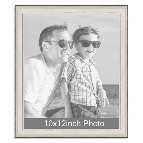10 x 12inch Silver Wooden Photo Frame for a 10x12/12x10in photo
