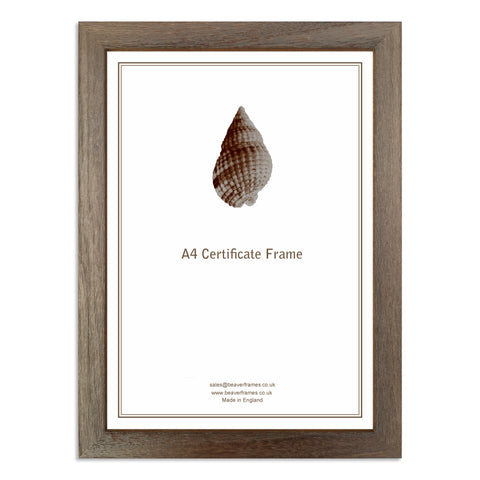 Image of a Walnut A4 Certificate Frame
