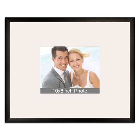 Matt Black Wedding & Special Occasion Signing Frame for a 10x8/8x10in Photo