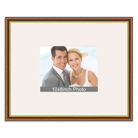 Traditional Mahogany & Gold Wedding & Special Occasion Signing Frame for a 10x8/8x10in Photo