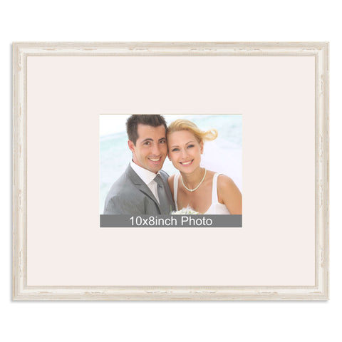 White Shabby Chic Wedding & Special Occasion Signing Frame for a 10x8/8x10in Photo