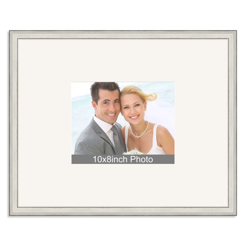 Silver Wedding & Special Occasion Signing Frame for a 10x8/8x10in Photo