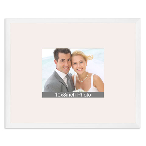 Matt White Wedding & Special Occasion Signing Frame for a 10x8/8x10in Photo