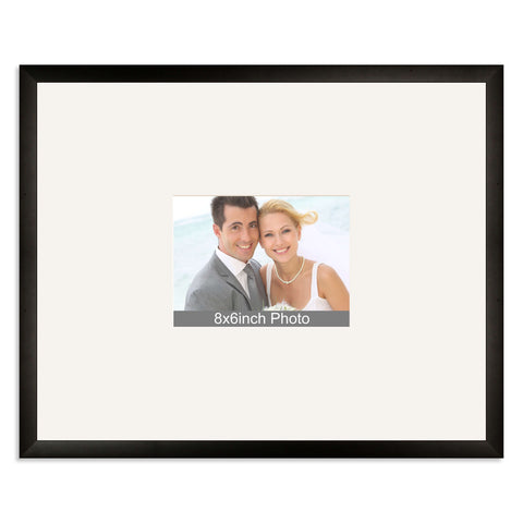 Matt Black Wedding & Special Occasion Signing Frame for a 8x6/6x8in Photo