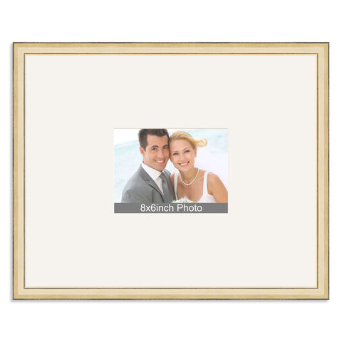 Gold Wedding & Special Occasion Signing Frame for a 8x6/6x8in Photo