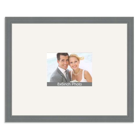 Grey Wedding & Special Occasion Signing Frame for a 8x6/6x8in Photo