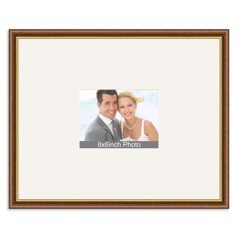 Traditional Mahogany & Gold Wedding & Special Occasion Signing Frame for a 8x6/6x8in Photo