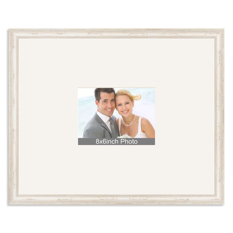 White Shabby Chic Wedding & Special Occasion Signing Frame for a 8x6/6x8in Photo