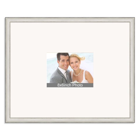 Silver Wedding & Special Occasion Signing Frame for a 8x6/6x8in Photo