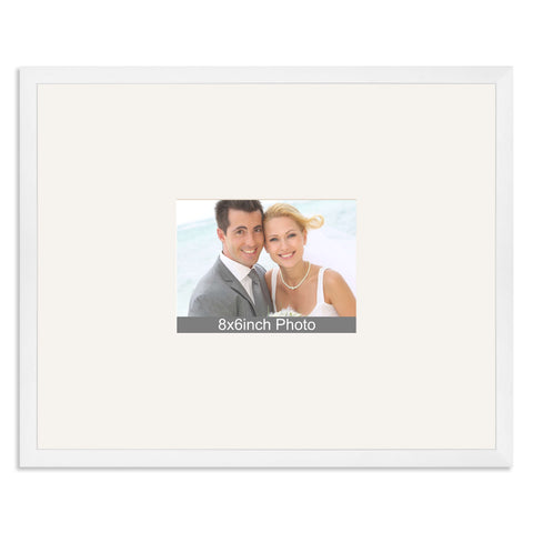 Matt White Wedding & Special Occasion Signing Frame for a 8x6/6x8in Photo