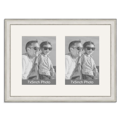 Silver Multi-Aperture Frame for two 7x5inch Photos