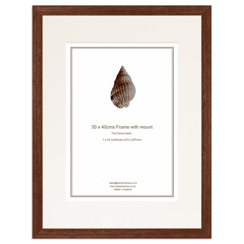 Elite Collection: Brown Frame including mount for an A4 Certificate