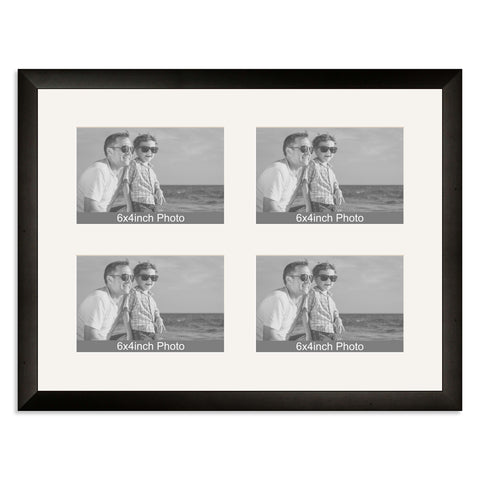 Matt Black Multi-Aperture Frame for four 6x4/4x6in Photos