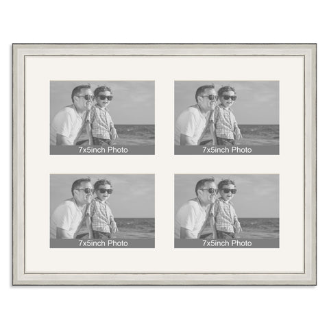 Silver Multi-Aperture Frame for four 7x5/5x7in Photos