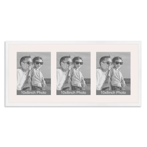 Matt White Multi-Aperture Frame for three 10x8/8x10in Photos