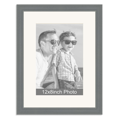 Grey Wooden Photo Frame for a 12x8/8x12in Photo