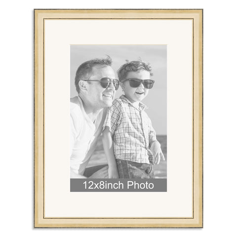 Gold Wooden Photo Frame for a 12x8/8x12in Photo
