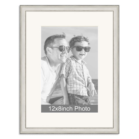 Silver Wooden Photo Frame for a 12x8/8x12in Photo