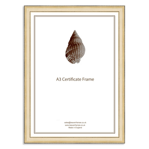 Classic Gold Wooden A3 Certificate Frame