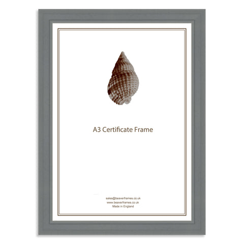 Classic Grey Wooden A3 Certificate Frame