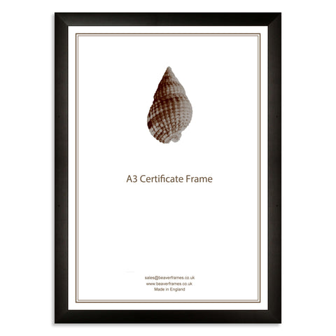 Classic Black Wooden A3 Certificate Frame