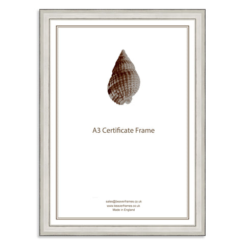 Classic Silver Wooden A3 Certificate Frame