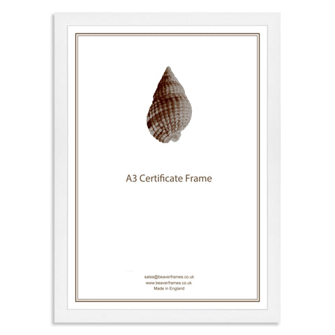 Classic White Wooden A3 Certificate Frame