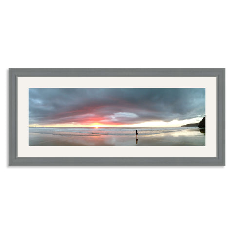 Grey Wooden Panoramic Photo Frame for a 24x8/8x24in Photo