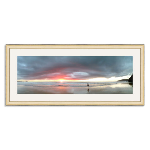 Gold Wooden Panoramic Photo Frame for a 24x8/8x24in Photo