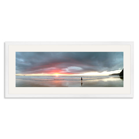 White Wooden Panoramic Photo Frame for a 24x8/8x24in Photo