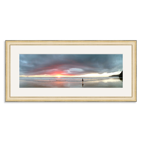 Gold Wooden Panoramic Photo Frame for a 18x6/6x18in Photo