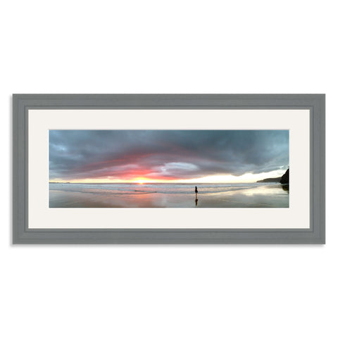 Grey Wooden Panoramic Photo Frame for a 18x6/6x18in Photo
