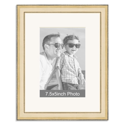 Gold Wooden Photo Frame with mount for a 7.5x5/5x7.5in Photo