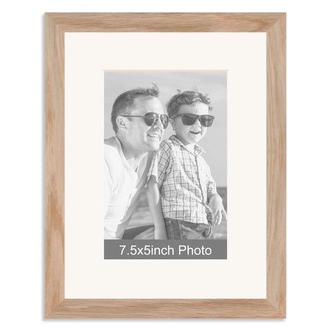 Solid Oak Photo Frame with mount for a 7.5x5/5x7.5in Photo