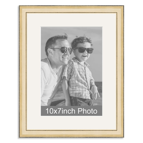 Gold Wooden Photo Frame with mount for a 7x10/10x7in Photo