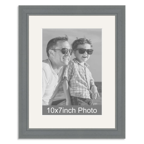 Grey Wooden Photo Frame with mount for a 7x10/10x7in Photo