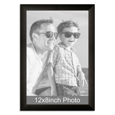 12 x 8inch Black Wooden Photo Frame for a 12x8/8x12in photo